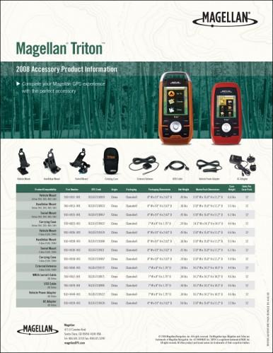 Magellan Triton Accessories Datasheet