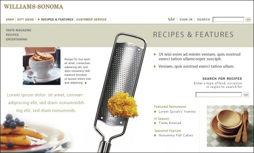Williams-Sonoma Website